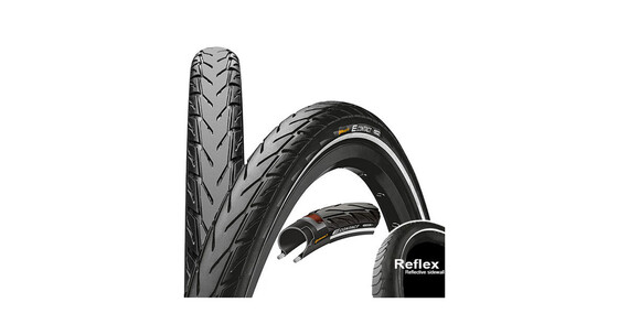 "Continental E.Contact - Pneu - 26"" rigide Reflex noir"